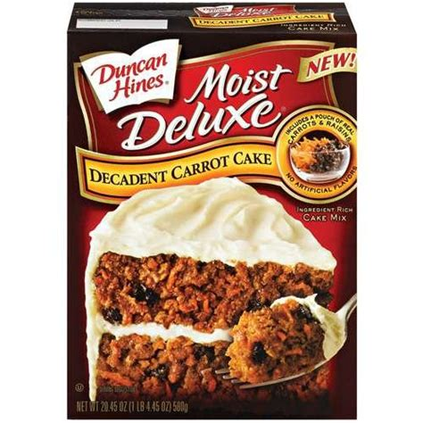 duncan hines moist deluxe cake mix carrot cake  oz