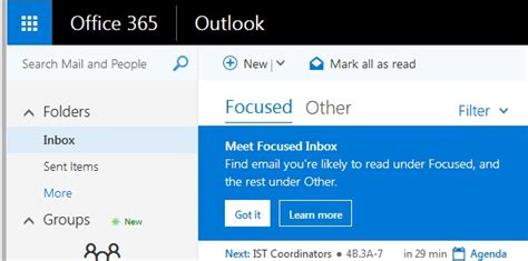 Office 365 Outlook Focused Inbox by Email Information Systems And Technology