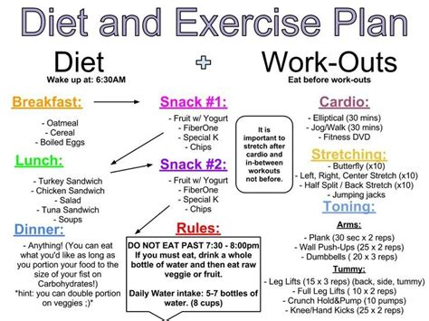diet and exercise plan lose weight quickly