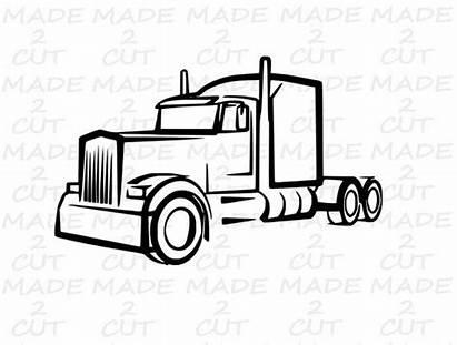 Truck Wheeler Semi Svg Silhouette Trucks Tattoo