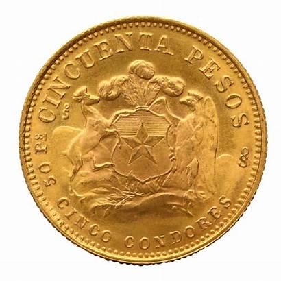 Pesos Oro Liberty 1926 1980 Chilenische Chileno