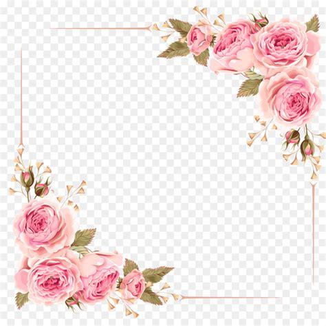bingkai bunga mawar png  undangan jualdesainku