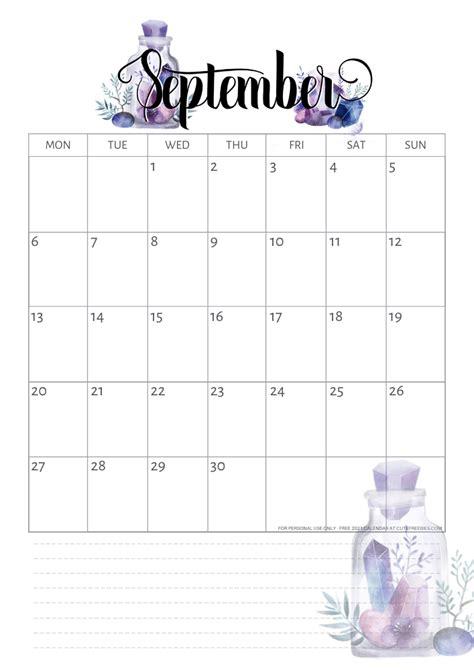 printable   calendar  crystal gems