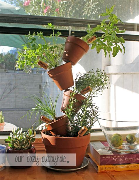 diy vertical herb garden our cozy cubbyhole