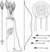 Bow Arrow Alvo Tiro Ao Equipamentos Coloring Colorir Template Imprimir Katniss Desenho Tudodesenhos sketch template