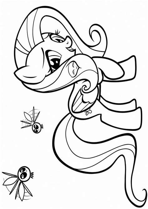Fluttershy Equestria Kleurplaat by Kolorowanki My Pony Obrazek Fluttershy Nr 4