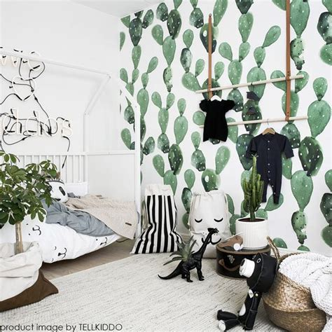 Nursery Rooms Pinterest by Cactus Mural Wall Art Cactus Pattern Wallpaper Print