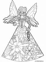 Coloring Fairy Pages Princess Fairies Adults Colouring Printable Princesses Detailed Christmas Princes Hard Pheemcfaddell Phee Mcfaddell Barbie Craft Adult Ice sketch template