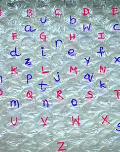 alphabet activities for kids bubble wrap letter matching With letter bubble pop