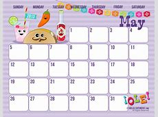 May 2016 Calendar Printable Cute Calendar Template 2018