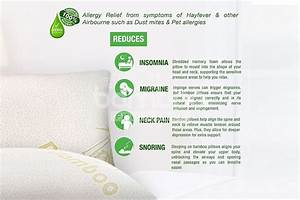 memory foam bamboo pillow for premiere sleep the bamboo With bamboo pillow benefits