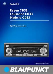 Blaupunkt Cd33 User Manual
