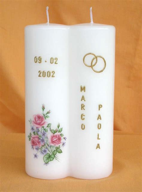 Candele Matrimonio by Candele Per Matrimoni