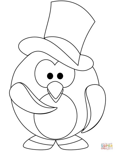 Cute Penguin Coloring Pictures