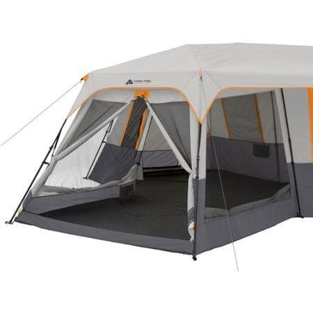 ozark trail 12 person instant cabin tent with screen room ozark trail 12 person 3 room instant cabin tent with