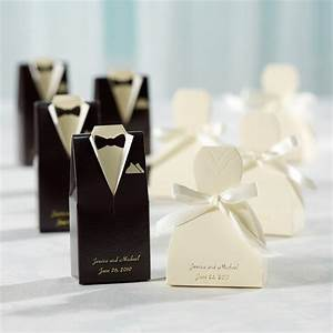 sample gown and tuxedo favor box With free wedding favor samples