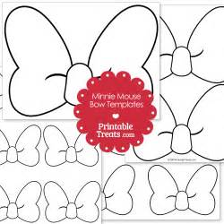 Minnie Mouse Bow Template Printable
