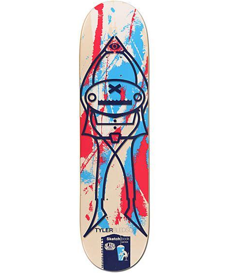 alien workshop bledsoe sketchbook hexmark 8 0 quot skateboard deck