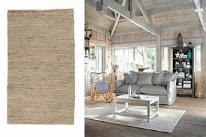 Tapis Scandinave Maison Du Monde : un tapis en toile de jute beige chez maisons du monde ~ Nature-et-papiers.com Idées de Décoration