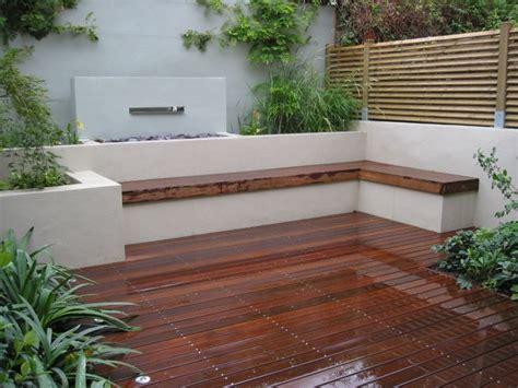 built in patio bench seating thegaliumgarden portfolio walled garden islington