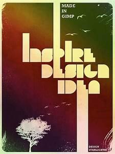 Gimp Tutorials - Grunge Typography Design Poster