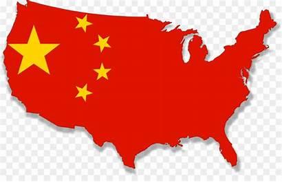 China Flag Map Clipart Chinese Cina Clip