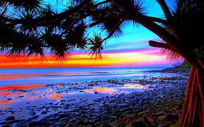 Tropical Sunset Colorful Desktop Beach Landscape Wallpapers