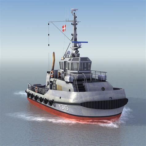 Tugboat Hours by Harbor Tugboat 3d Model