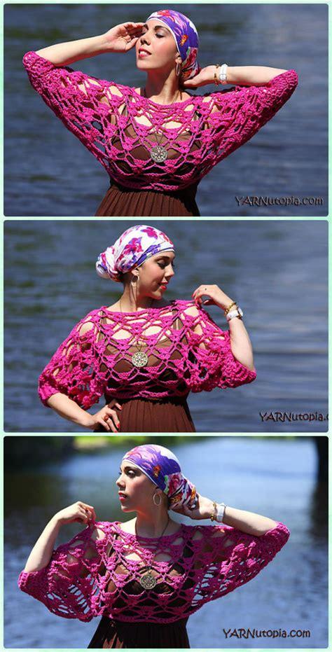 crochet women summer crop top  patterns