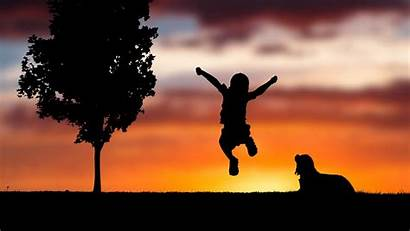 Happy 4k Silhouette Sunset Child Wallpapers 1080
