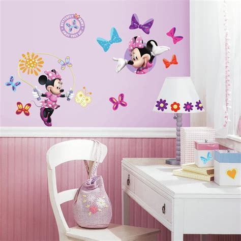 wall decoration stickers disney minnie mouse bow tique wall decals eonshoppee