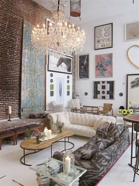 Boho style incorporates an eclectic mix of colors, patterns, and textures. 36 Boho Rustic Glam Living Room Design Ideas - GODIYGO.COM