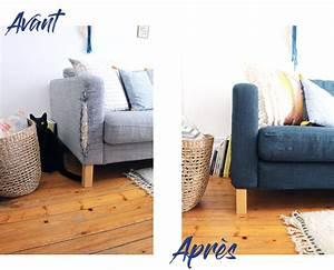 Changer Tissu Canapé : comment customiser son canap ik a partie 1 changer la couleur mademoiselle claudine le blog ~ Nature-et-papiers.com Idées de Décoration