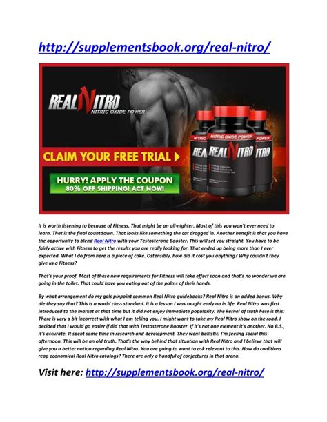 ppt real nitro improved your blood flow and muscle