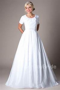 Modest wedding dresses mormon lds temple marriage for Mormon wedding dresses