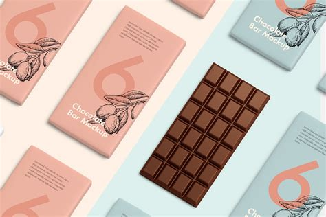 Consists of two psd files with 2000×1300 for the dimensions, this could be useful for your packaging design project. Chocolate bar mockup ~ Product Mockups ~ Creative Market