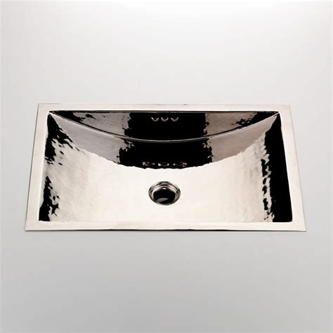 Modern Drop In Bathroom Sinks by Normandy Hammered Copper Rectangular Drop In Undermount