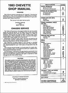 1983 Chevy Chevette Repair Shop Manual Original