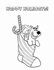 Free coloring pages of scooby doo christmas