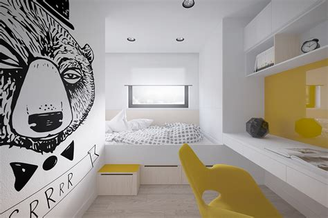 sq meter space saving apartment layout  young family