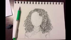 Drawing Curly Hair - YouTube