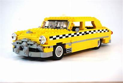 Lego Taxi Yellow Cars Ford 1949 Brick