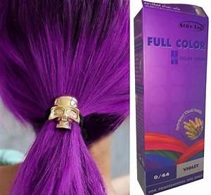 Hair COLOR Permanent Hair Cream Dye VIOLET PURPLE 044