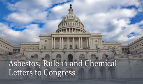 asbestos rule   chemical letters  congress