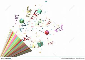 party horn confetti clipart - Clipground