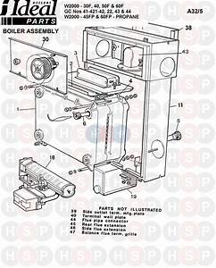 Ideal W2000 40f  Boiler Assembly 1  Diagram