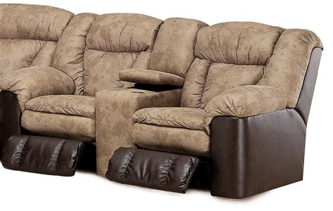 Coleman Loveseat by Talon Sand Reclining Console Loveseat From