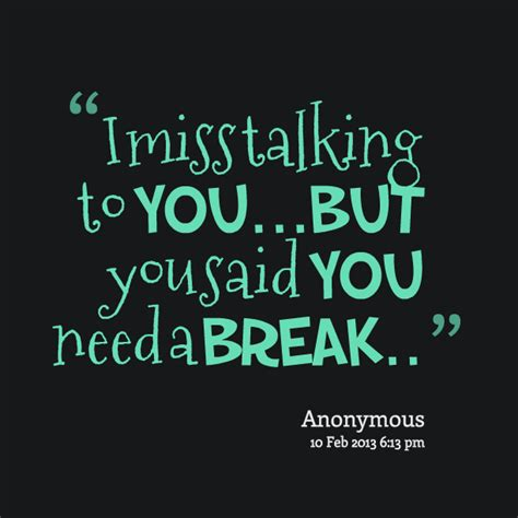 Miss Talking To You Picture Quotes