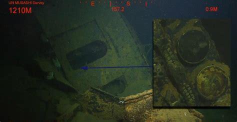 underwater   musashi battleship wreckage