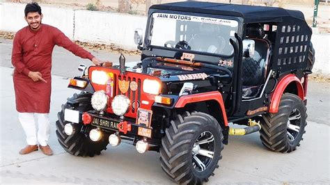 Modified Open Jeep....new Black & Orange Combination
